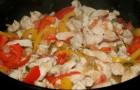 Курица с овощами в сливочном соусе в аэрогриле