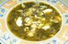 Летний суп из щавеля в пароварке