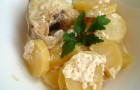 Минтай с картофелем в скороварке