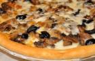 Пицца с грибами в аэрогриле