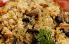 Пшеничная каша с грибами в скороварке