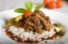 Пюре из говядины с рисом в пароварке