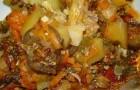 Рагу из цветной и белокочанной капусты с грибами в скороварке