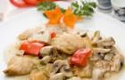 Рыба с грибами в скороварке