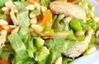 Салат из индейки со сливками в пароварке
