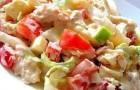 Салат из курицы с кальмарами в пароварке
