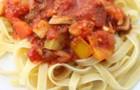 Спагетти с лечо в пароварке