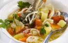 Суп из баранины с домашней лапшой в скороварке