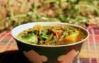 Суп из баранины со стручковой фасолью в скороварке