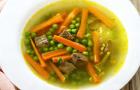 Суп из говядины и зеленого горошка в скороварке