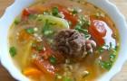 Суп из говяжьих ребрышек в скороварке