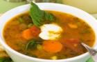 Суп из гусиной печени с горохом и картофелем в скороварке