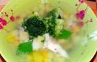 Суп из карпа с брокколи в скороварке