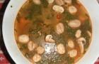 Суп из консервированных мидий в скороварке