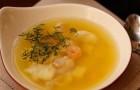 Суп из креветок и филе хека в скороварке