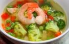Суп из креветок и цветной капусты в скороварке