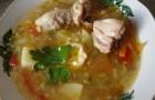 Суп из курицы с черносливом и рисом в скороварке