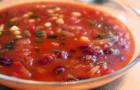 Суп из телятины с красной фасолью в скороварке