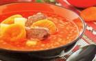 Суп из телятины с курагой в скороварке