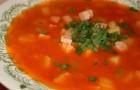 Суп из телятины с помидорами в скороварке