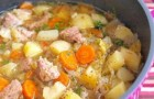 Суп из телятины с цукини в скороварке