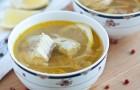 Суп осетровый в арогриле