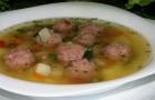 Суп с фрикадельками в скороварке