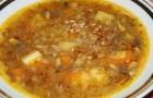 Суп с гречневой крупой в аэрогриле
