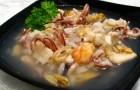 Суп с морепродуктами в пароварке