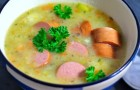 Суп с овощами и сардельками в скороварке