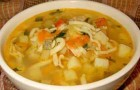 Суп с цукини и зеленью в скороварке