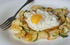 Цукини с яйцами и артишоками в скороварке