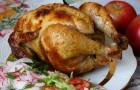 Цыпленок-гриль с апельсинами в аэрогриле