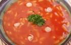 Томатный суп с рисом в скороварке