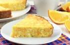 Тыквенно-творожная запеканка с апельсинами в мультиварке