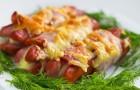 Венгерские сосиски с сыром и яйцом в скороварке