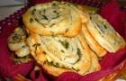 Завитушка с зеленью в хлебопечке