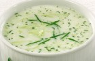 Арабский суп с йогуртом и огурцами