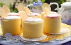 Карамельный бисквит с натуральным йогуртом