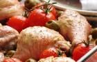 Куриное жаркое с брынзой и лимоном