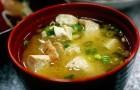 Мисо суп с креветками и тофу