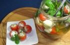 Моцарелла, фаршированная маринованными овощами