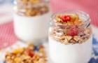Мюсли с грушами и домашним йогуртом