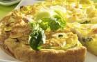Открытый пирог с сыром и творогом