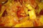 Панир в соусе из сметаны