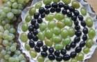 Пирог йогуртовый с виноградом