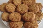 Творожное печенье с овсяными хлопьями