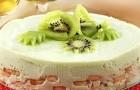 Йогуртовый торт-мусс с бананами, киви