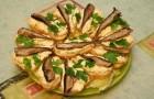 Закуска с адыгейским сыром и шпротами